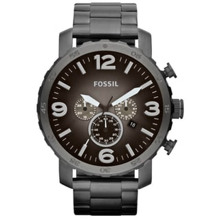 Fossil Men's 'Nate' Chronograph Smoke Watch