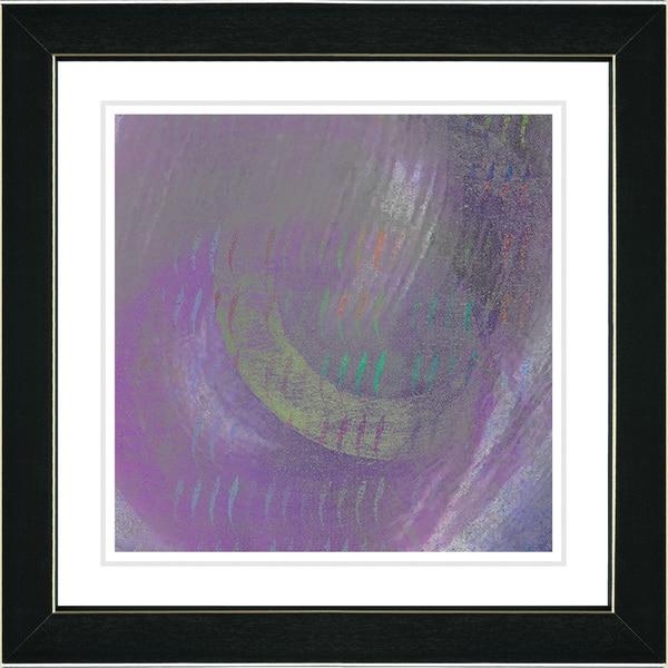 Studio Works Modern 'Moon Shadow - Purple' Framed Print