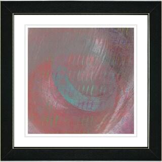Studio Works Modern 'Moon Shadow - Red' Framed Print
