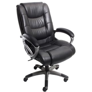 Mayline 500 Series Easy Assemble High Back Executive Leather Chair