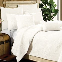 Bamboo Whisper White 3-piece Quilt Set