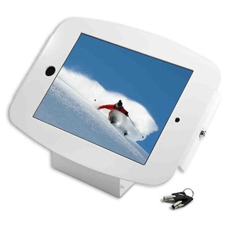 iPad 2/3/4/Air/Air2 Secure Space Enclosure with 45? Kiosk White