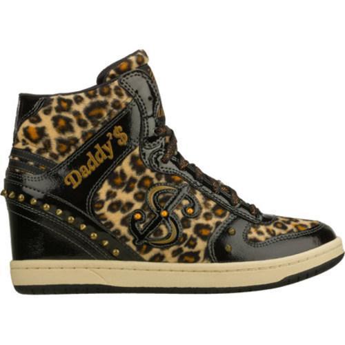 Women's Daddy's Money Moolah Purrrr Black/Leopard