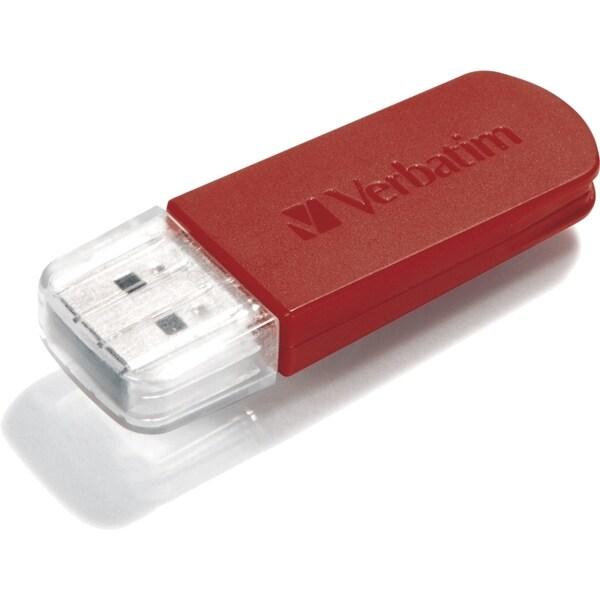 Verbatim 8GB Mini USB Flash Drive - Red