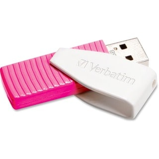 Verbatim 16GB Swivel USB Flash Drive - Hot Pink