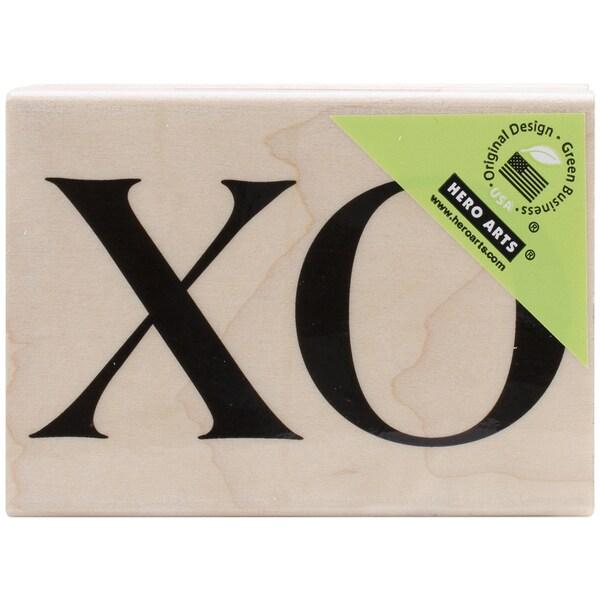 "Hero Arts Mounted Rubber Stamps 4""X1""-Xo"