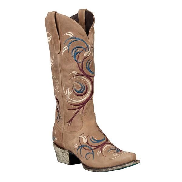 Lane Boots Women's 'Jeri Ann' Cowboy Boots in Light Brown