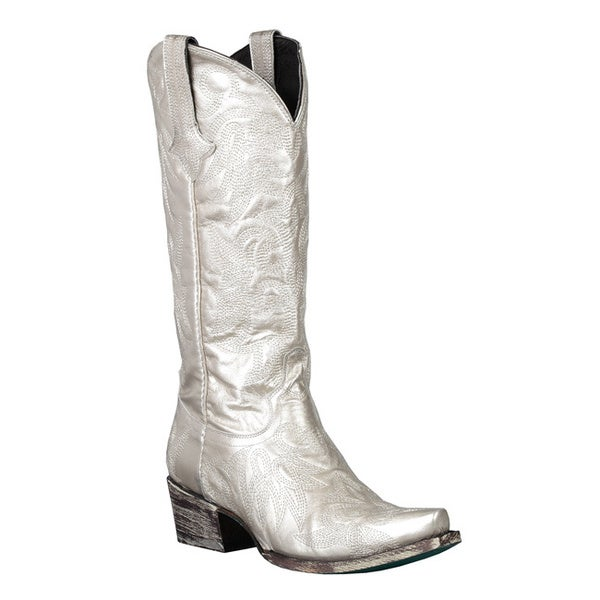 Lane Boots Women's 'Wild Ginger' Metallic-Silver Cowboy Boots ...