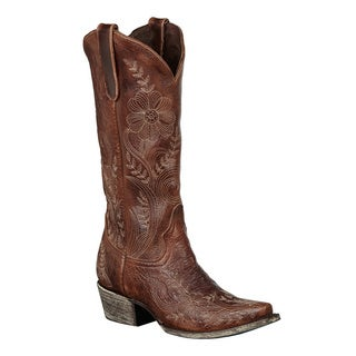 Lane Boots Women's 'Ashlee Lace' Brown Cowboy Boots