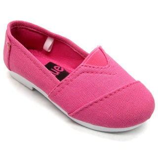 Blue Children's 'I-TIMMY' Canvas Ballerina Shoes