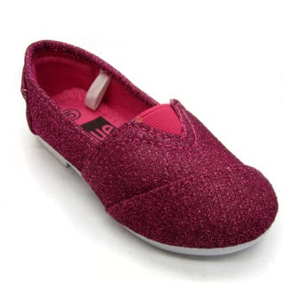 Blue Children's 'I-TIMMY' Glitter Fuchsia Ballerina Shoes