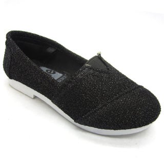 Blue Children's 'I-TIMMY' Glitter Black Ballerina Shoes