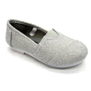 Blue Children's 'I-TIMMY' Glitter Silver Ballerina Shoes