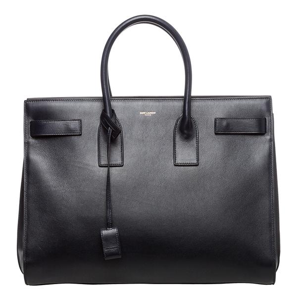 Saint Laurent Classic 'Sac De Jour' Navy Leather Bag