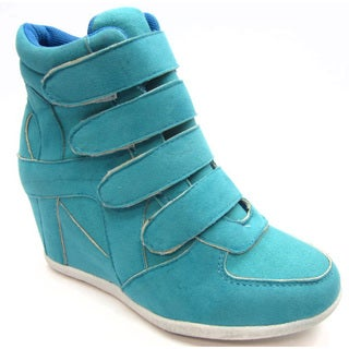 Shop Blue Children S K Kris Turquoise Wedge Shoes