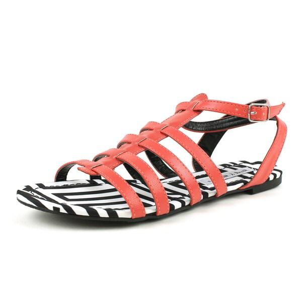 Mark & Maddux Women's 'AZTEC-01' Tribal Print Flat Sandals in Red