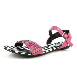 Magenta Mark & Maddux Women's 'AZTEC-02' Tribal Print Flat Sandals
