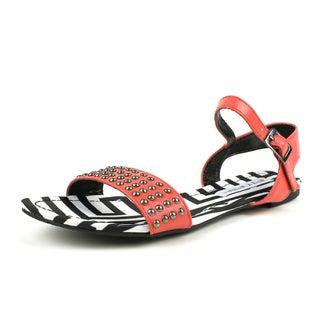 Mark & Maddux Women's 'AZTEC-02' Red Tribal Print Flat Sandals