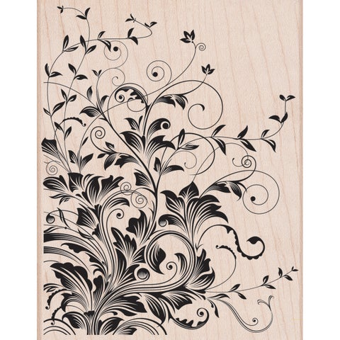 """Hero Arts Mounted Rubber Stamps 4.5""""X3.75""""-Leafy Vines"""
