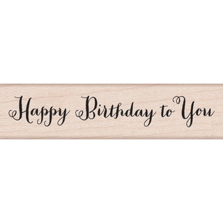 """Hero Arts Mounted Rubber Stamps 3""""X1.5""""-Happy Birthday"""