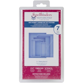 "Spellbinders Nestabilities Card Creator 5""X7"" Dies-Matting Basics B"