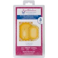 """Spellbinders Nestabilities Card Creator 5""""X7"""" Dies-Detailed Scallops"""