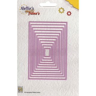 Nellie's Choice Multi Frame Dies-Straight Rectangle