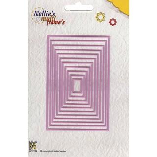 Nellie's Choice Multi Frame Dies-Straight Rectangle