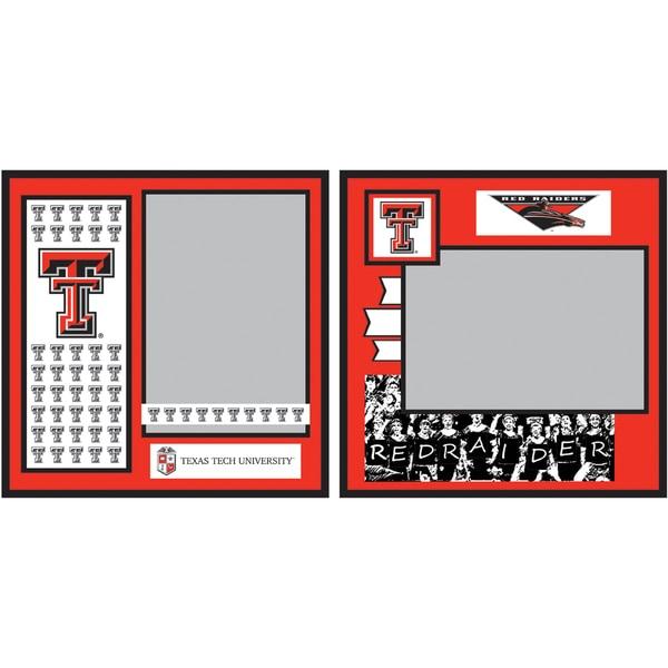 "Collegiate 8""X8"" 2 Page Spreads-Texas Tech University"