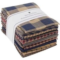 "Fat Quarter Bundles-Navy Homespun 12 pieces 18""X22""-Navy"