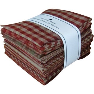 "Fat Quarter Bundles-Red Homespun 12 pieces 18""X22""-Red"