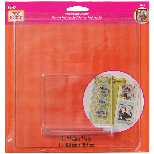 Mod Podgeable 3D Square Clear Shape W/Stand-
