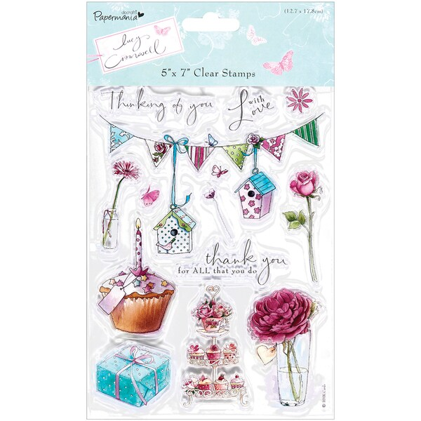 """Papermania Lucy Cromwell Clear Stamps 5""""X7""""-Bunting"""