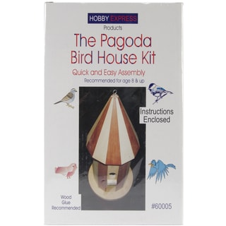 Pagoda Wood Bird House Kit.-Unfinished