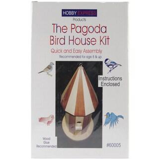 Pagoda Wood Bird House Kit.-Unfinished