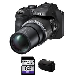 Fujifilm FinePix SL1000 16.2 MP Black Digital Camera 8GB Bundle