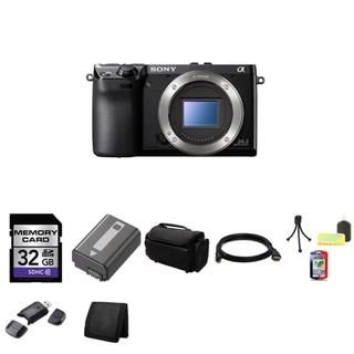 Sony Alpha NEX-7 24.3MP Black Body Only Digital Camera 32GB Bundle