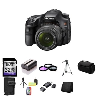 Sony Alpha SLT-A65 24.3MP Black Digital SLR Camera with 18-55mm Lens Bundle