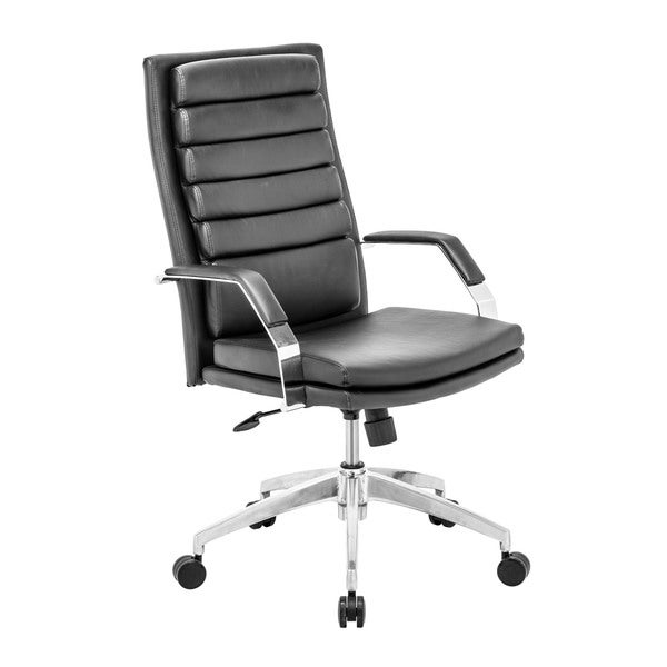 Director Comfort Black Office Chair - 27.5L x 27.5W x 44-47.6H