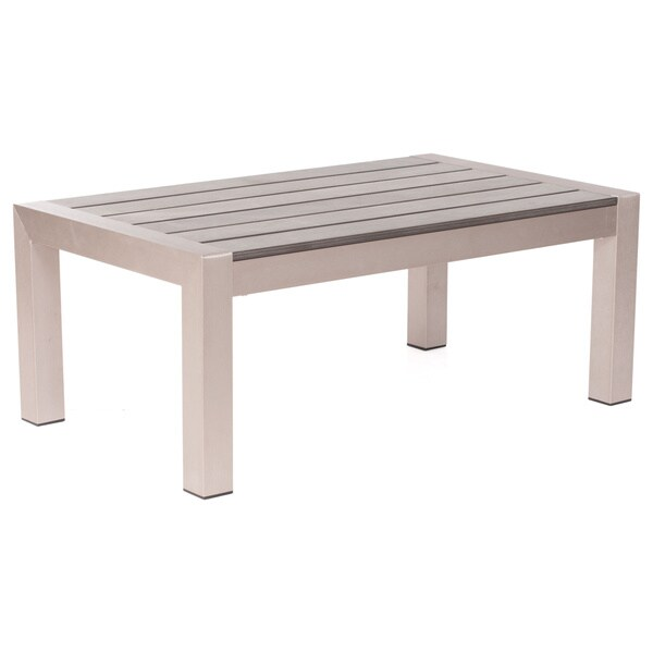Brushed Aluminum Coffee Table: Shop Zue Modern Cosmopolitan Brushed Aluminum Coffee Table