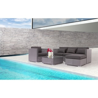 Clear Water Bay Grey Ottoman