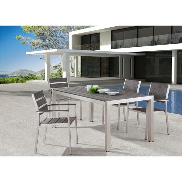 Metropolitan Brushed Aluminum Dining Chair