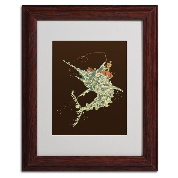 Budi Satria Kwan 'Cold Blooded Ocean' Abstract Framed Mattted Art