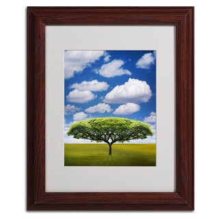 Philippe Saint-Laudy 'Improbable Open Space' Framed Mattted Canvas Art