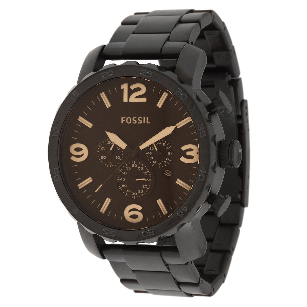 Fossil Men's JR1356 Nate Chronograph Stainless Steel Watc...