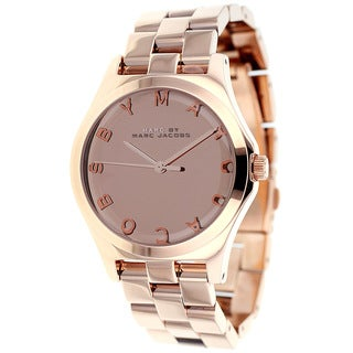 Marc Jacobs Women's MBM3212 'Henry' Rosetone Quartz Watch