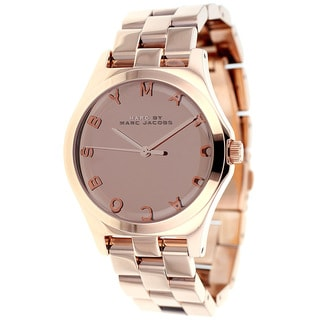 Marc Jacobs Women's MBM3212 'Henry' Rosetone Quartz Watch