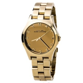 Marc Jacobs Women's MBM3211 Henry Glossy All Goldtone Watch