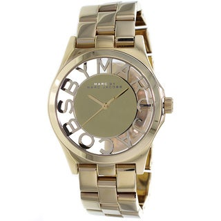 Marc Jacobs Women's MBM3206 Henry Skeleton Goldtone Watch