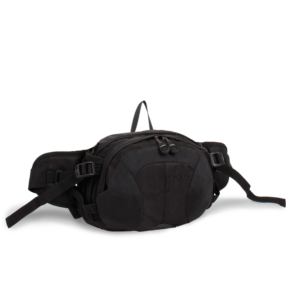 J World 'Pony' Convertible Fanny Pack Waist Bag (Black)